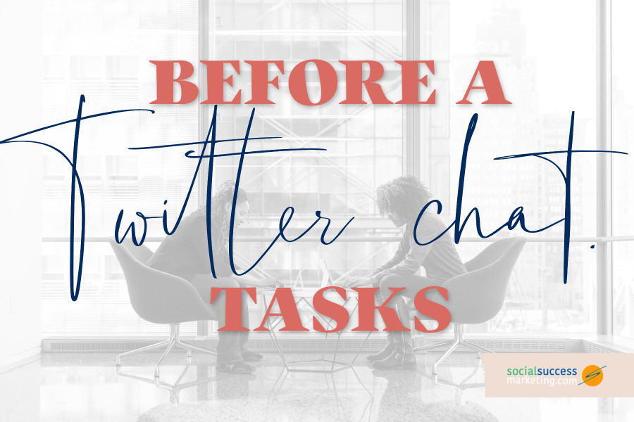 what to do before a Twitter chat