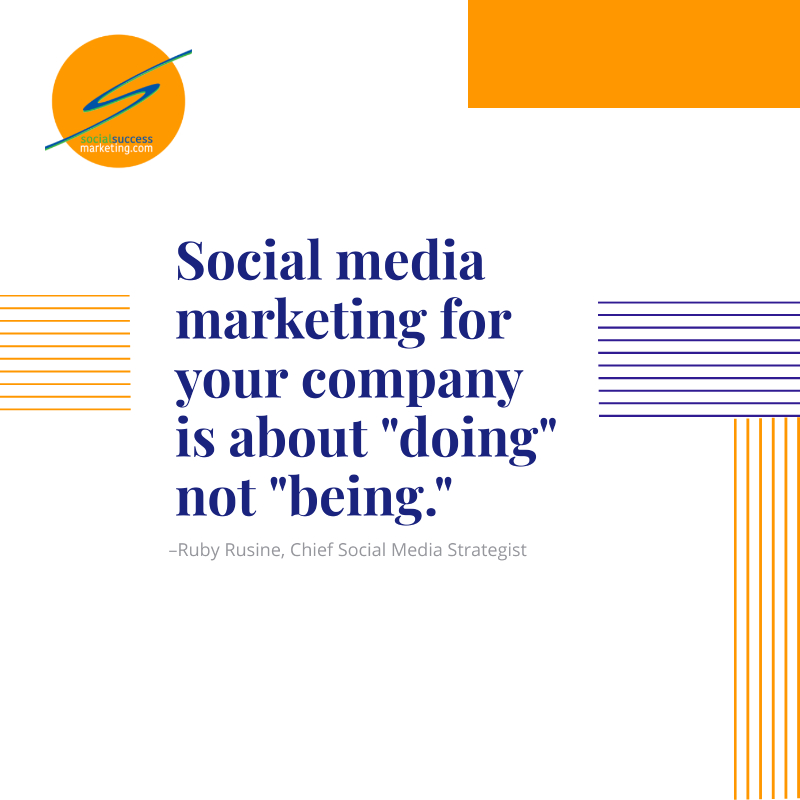 doing social media marketing is not being