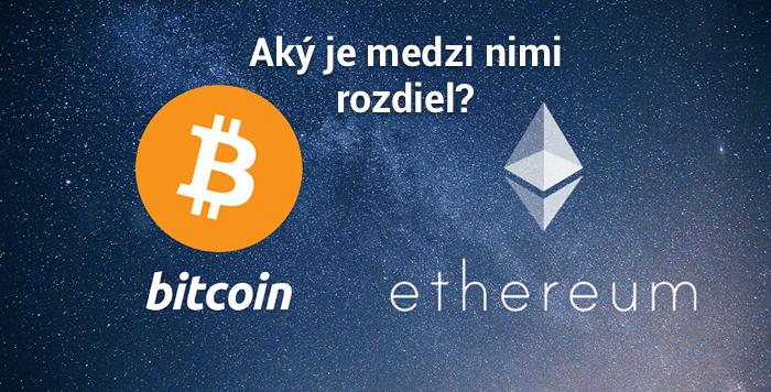 rozdiel medzi bitcoin a ethereum