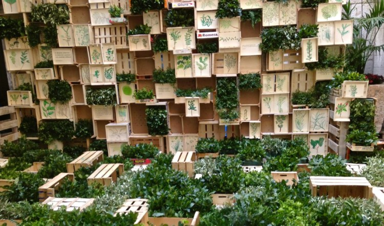 Vertical Garden at Temps de Flors, Girona.