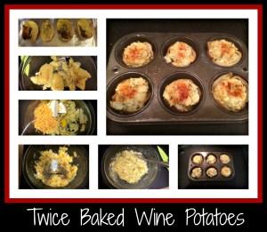 twice baked wine potatoes recipe