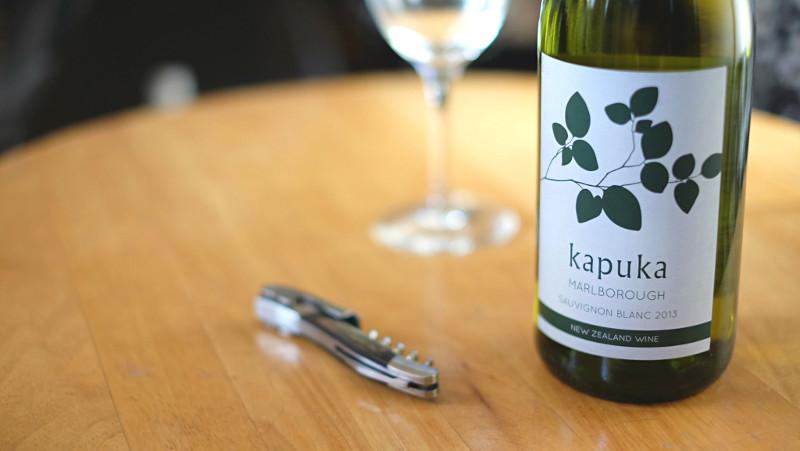 Kapuka Sauvignon Blanc wine glass bottle social vignerons