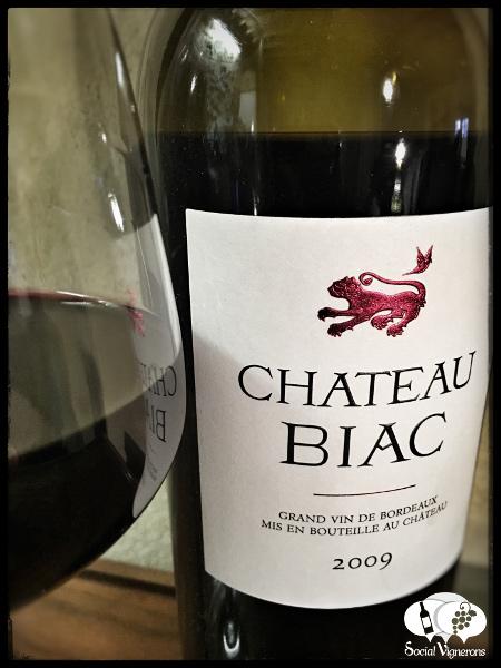 2009 Chateau Biac Cadillac Cotes de Bordeaux Red wine bottle front label Social Vignerons small