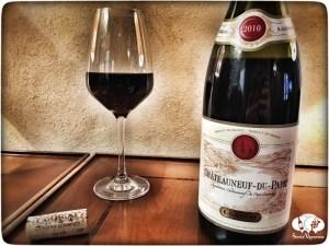 2010 E. Guigal Châteauneuf-du-Pape wine bottle glass cork Rhone France social vignerons