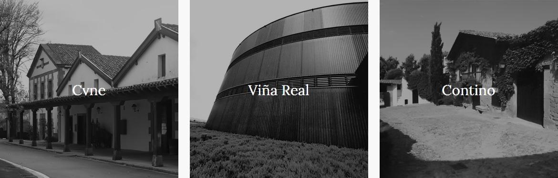 3 Bodegas Wineries Vina Real Contino CVNE Compania Vinicola del Norte de Espana Social Vignerons