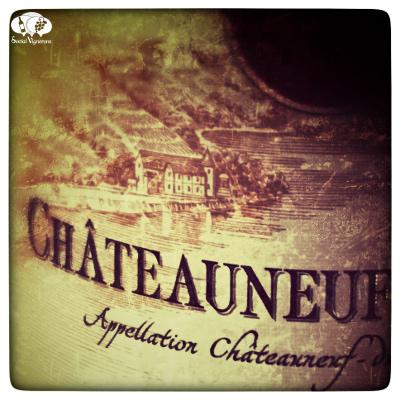 E. Guigal Chateauneuf du Pape Label Close Up on Chateau d'Ampuis social vignerons