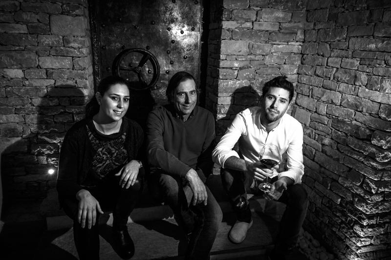 Left to Right: : Luisa, Bruno, and Francesco Rocca