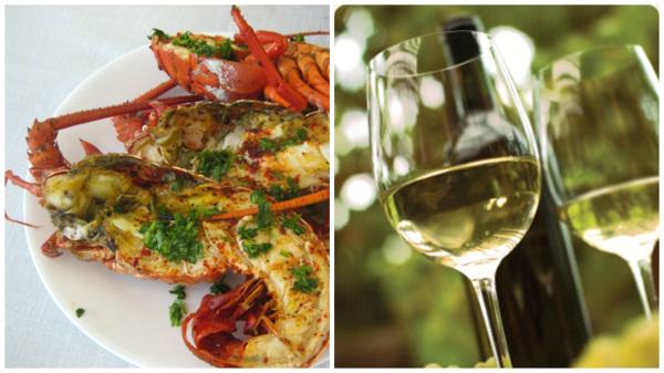 Wine Pairing seafood lobster caryfish white wine salad social vignerons