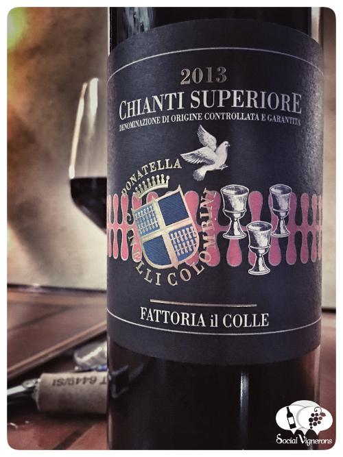 2013 Donatella Cinello Colombini Fattoria Il Colle Chianti Superiore red wine front label social vignerons
