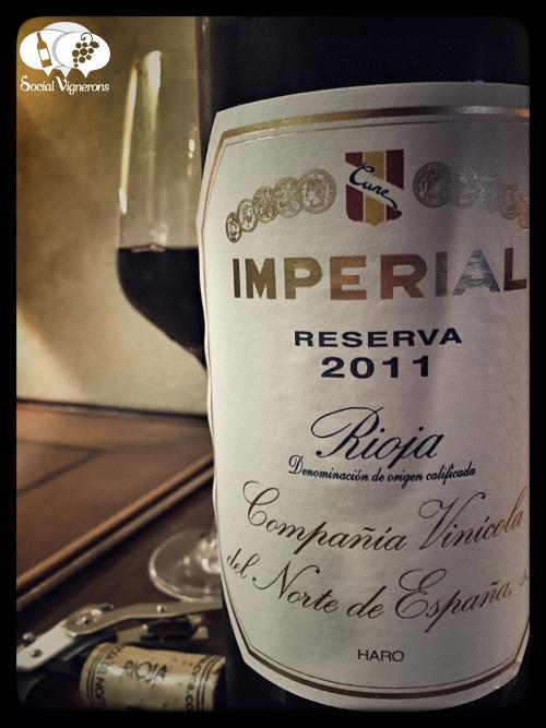 CVNE 2011 Imperial Reserva Rioja red wine tinto tempranillo Spain front label social vignerons