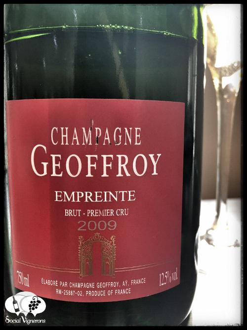 Champagne Rene Geoffroy Empreinte cuvee sparkling front label social vignerons bottle