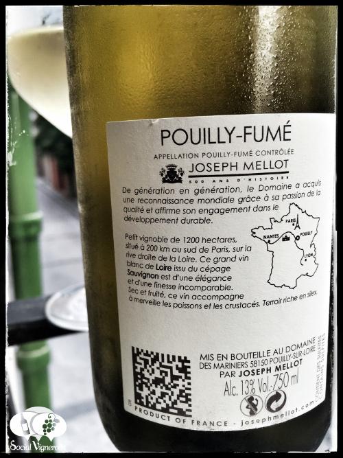 2015 Joseph Mellot Domaine des Mariniers Pouilly-Fumé Sauvignon Blanc wine back label small