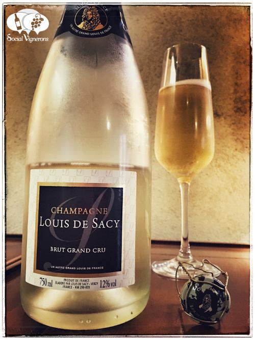 Louis de Sacy Champagne Brut Grand Cru wine sparkling review front label social vignerons small