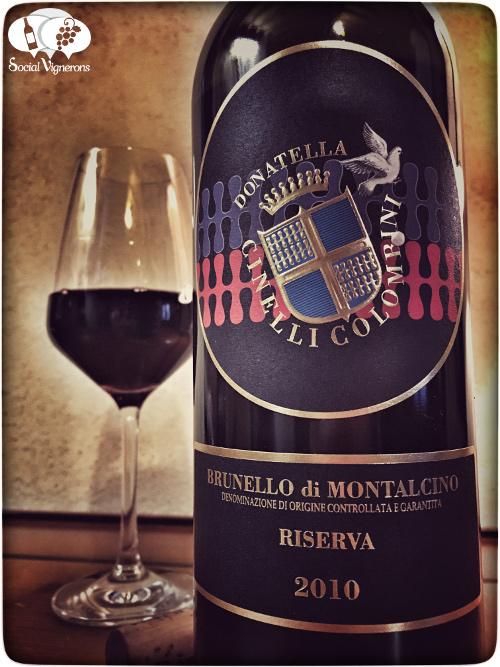 2010 Donatella Cinelli Colombini Brunello Montalcino Riserva Tuscany front label