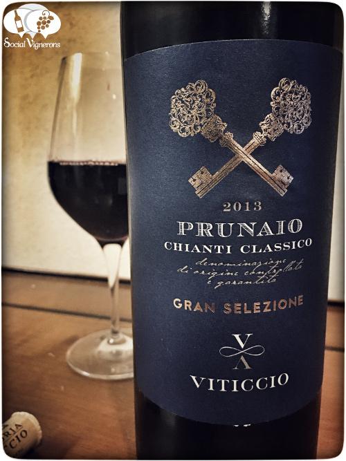2013 Viticcio 'Prunaio' Chianti Classico Gran Selezione Tuscany Italy Sangiovese wine vino front label social vignerons