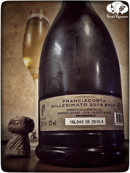 2009 La Montina Franciacorta Millesimato Brut Vintage Sparkling wine back label Italy