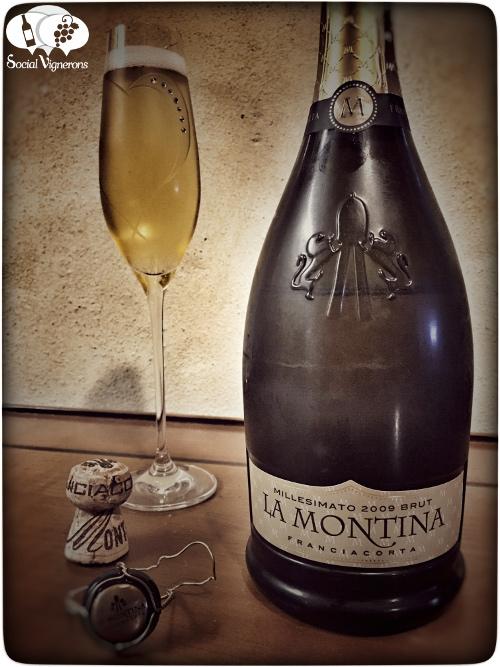 2009 La Montina Franciacorta Millesimato Brut Vintage Sparkling wine front label Italy