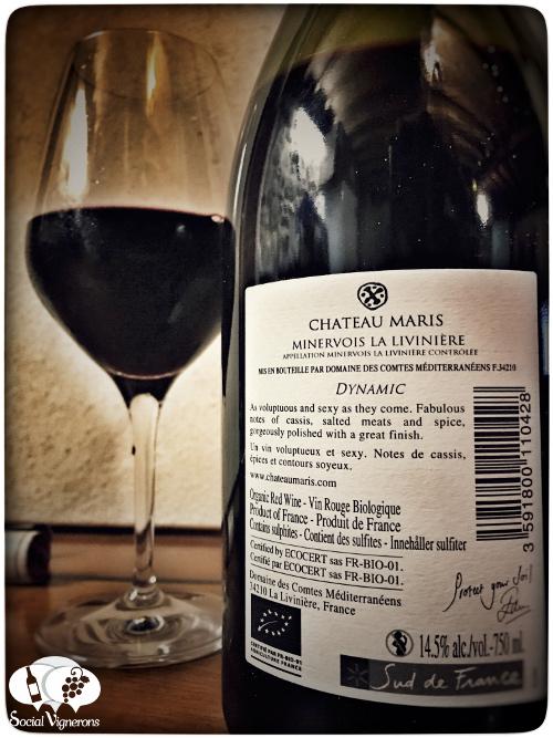 2014-chateau-maris-minervois-la-liviniere-dynamic-wine-red-languedoc-back-label-social-vignerons