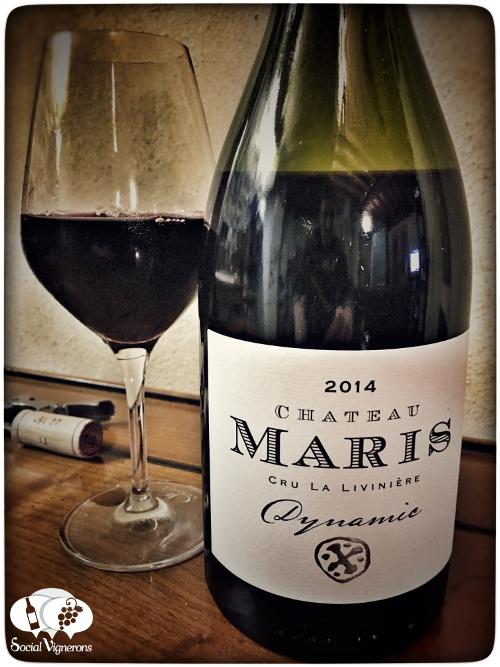 2014-chateau-maris-minervois-la-liviniere-dynamic-wine-red-languedoc-front-label-social-vignerons