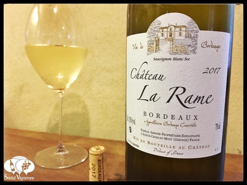 2017 Château La Rame Bordeaux Sauvignon Blanc Sec