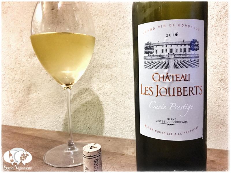2016 Cave de Tutiac Château Les Jouberts Cuvée Prestige, Blaye Côtes de Bordeaux White