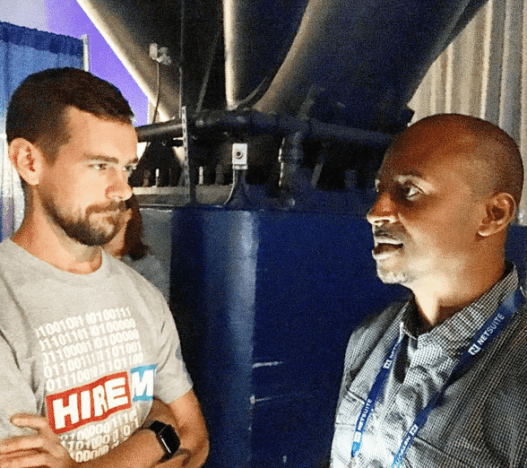 Jack Dorsey and Wayne Sutton