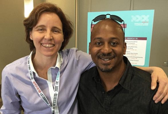 Great reconnecting with Megan Smith @USCTO @WhiteHouse @whitehouseostp at #sxsw