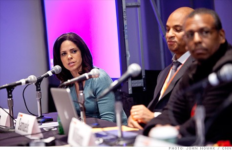 CNN's Soledad O'Brien (left) hosted an SXSW panel discussion on the aftermath with Hank Williams