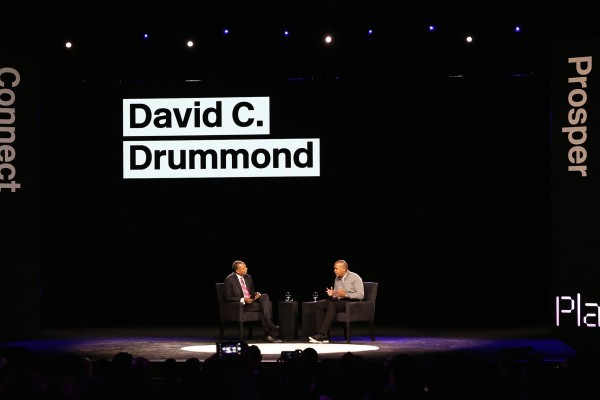 Hank Williams interviewing  David Drummond, Google's senior vice president for Corporate Development and chief legal officer.