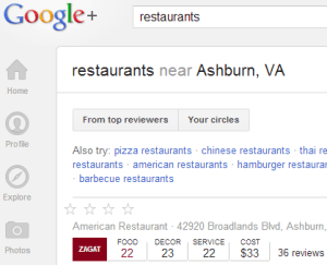 Google+, Yelp and other sites publish reviews online that can impact your placement in search results.
