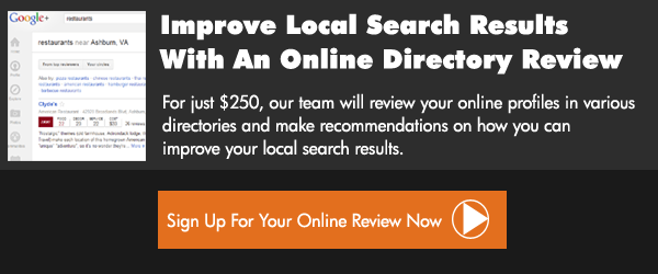 Our Online Directory Review can help improve your local search position