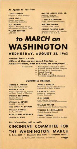 March on Washington Flyer from Cincinnati