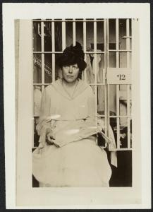 Lucy Burns in the Occoquan Workhouse. November 1917