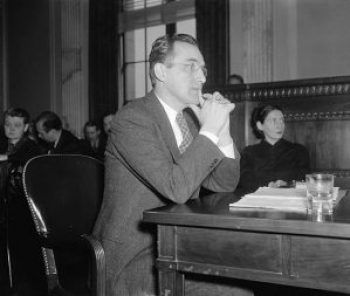 Chairman Arthur J. Altmeyer of the Social Security Board, appearing before the Special Senate Committee