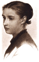 Crayon Portrait of Josephine Shaw Lowell, 1869.