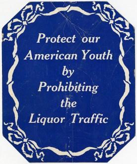 WCTU Prohibition placard
