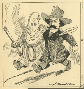 Cartoon of Coleman Blease and Lynch Law by William Kemp Starrett