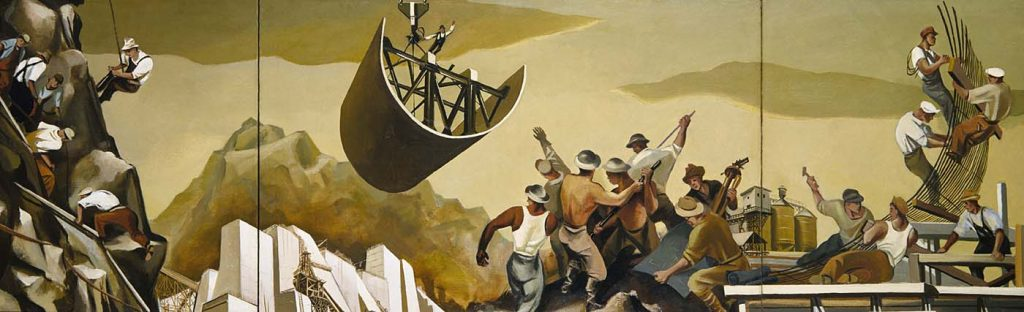 "William Gropper's ""Construction of a Dam"" (1939)"