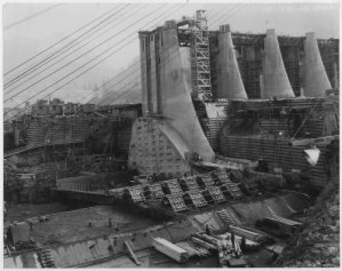 Public Works Administration Project: Bonneville Power and Navigation Dam, Oregon.