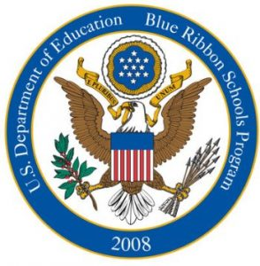 No Child Left Behind Blue Ribbon School Logo