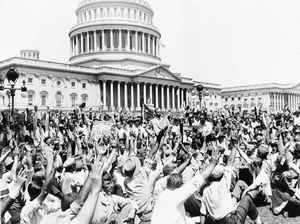 On July 13, 1932, Brig. Gen. Pelham D. Glassford, Superintendent of the Washington, D.C., police, asked a group of war veterans on the Capitol grounds to raise their hands if they had served in France and were 100 percent American