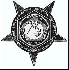 Originally, the name and object (shown here) of the Knights of Labor were considered secretive.