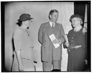 Dr. Martha M. Eliot was assistant to Miss Katherine Lenroot, pictured here with Senator Murray. (June 26, 1939)