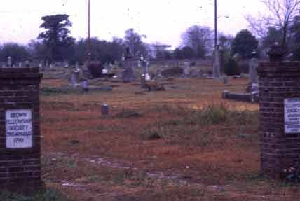 The Brown Fellowship Society and the Humane Brotherhood's burial plots were near in proximity on the grounds of this cemetery, yet a fence stood to separate the rival groups like the one which enclosed the white section of graves