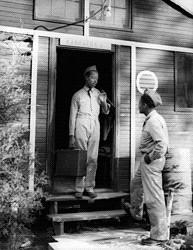 CCC Participant at Barrack's Door