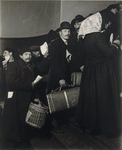 Climbing into the Promised Land, Ellis Island, 1908
