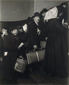 Climbing into the Promised Land, Ellis Island, 1908