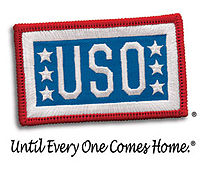 "U.S.O. Patch with motto printed under it ""Until Every One Come Home"""