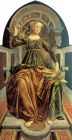 """Temperance"" by Piero del Pollaiolo (1443-1496), Uffizi Gallery"