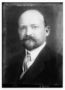John W. Garrett head and shoulders portrait photograph